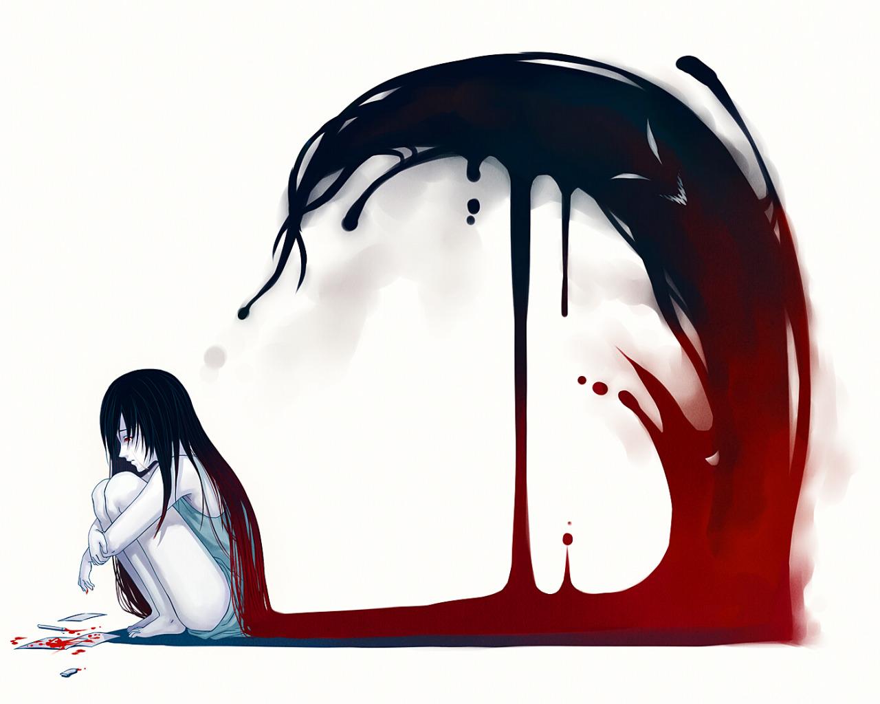 Как рисовать девочка кровь