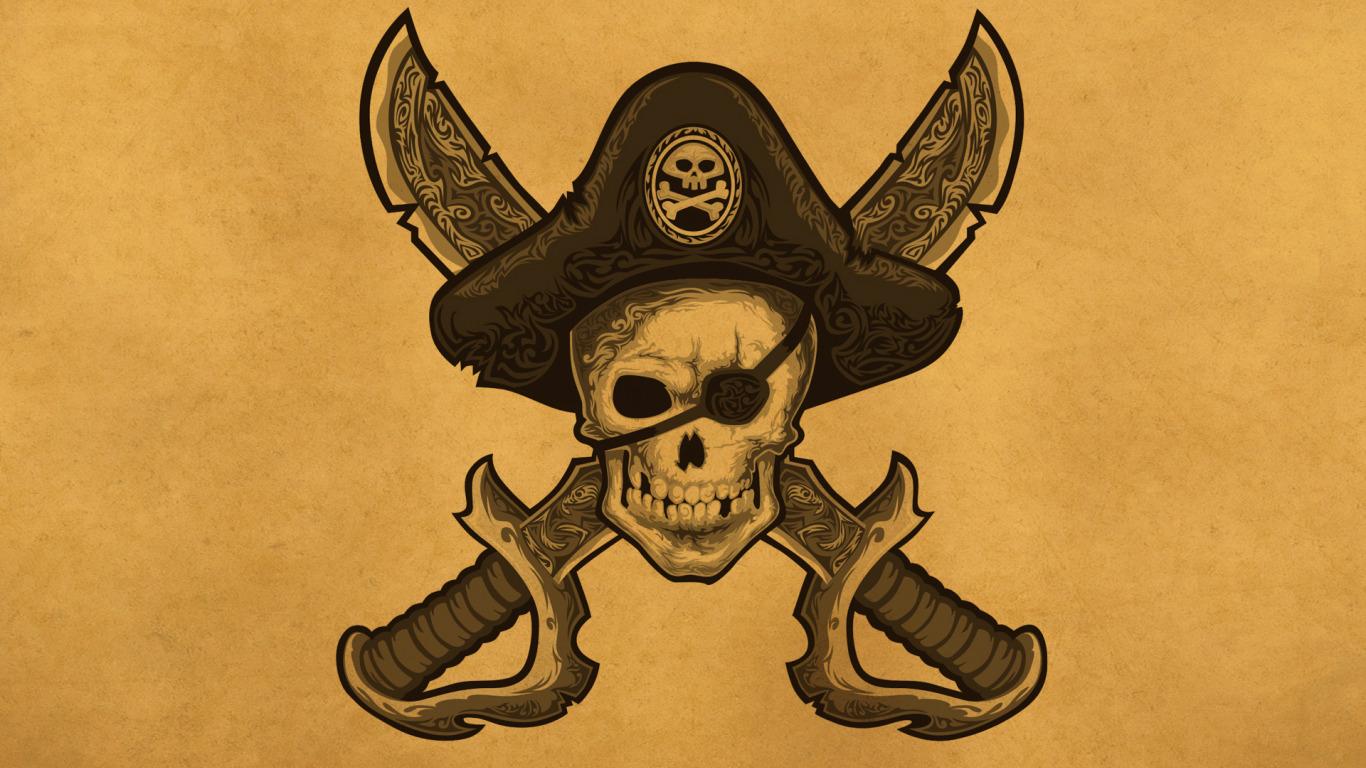 Обои на рабочий стол скелеты пираты