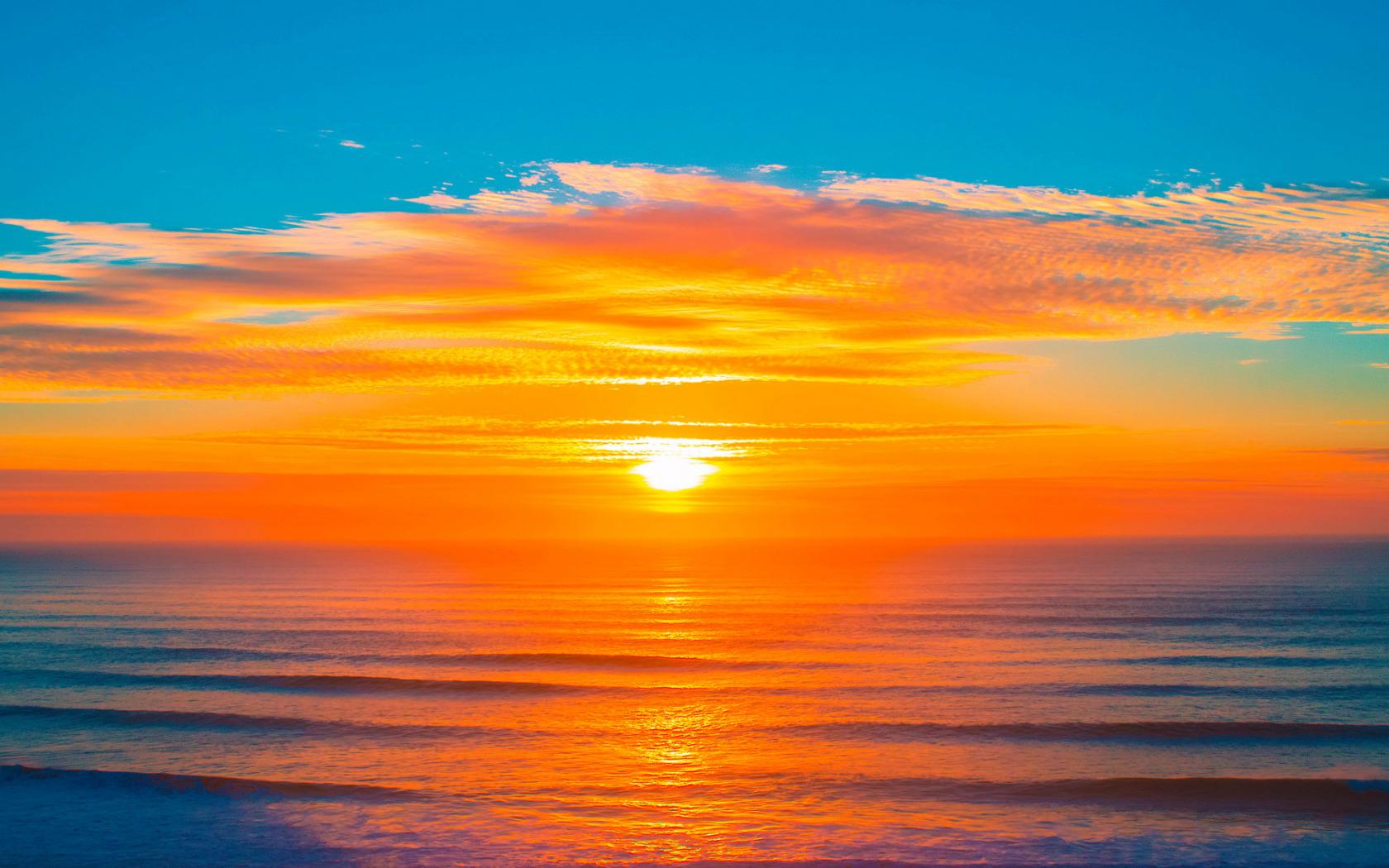 Вакансии мерчендайзером, открытка закат над морем