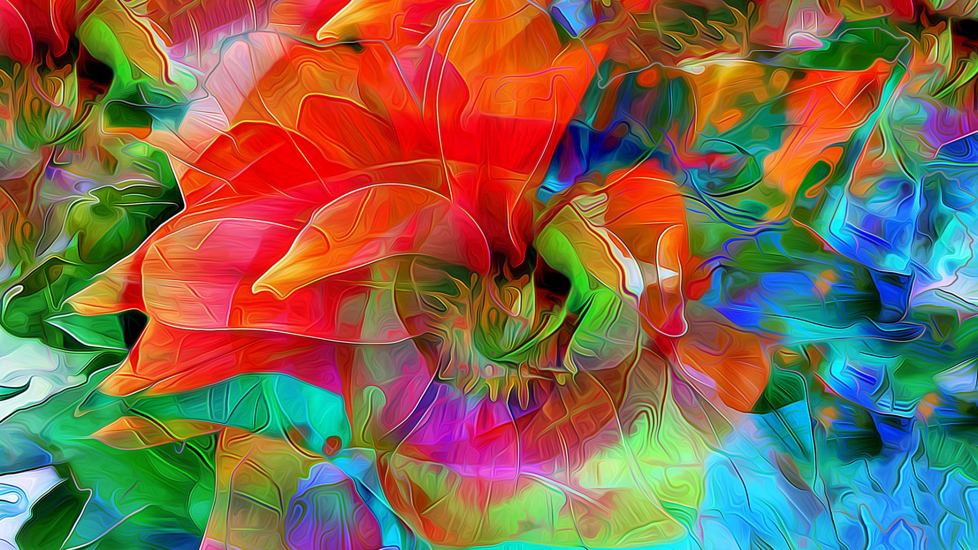 Фото цветы в абстракции