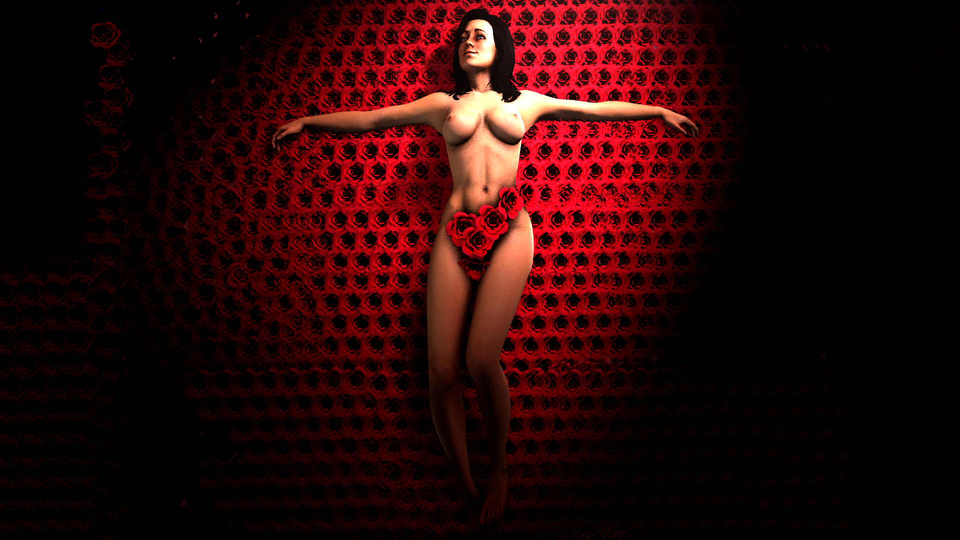 Wallpaper nude picture of mass effect naked scene