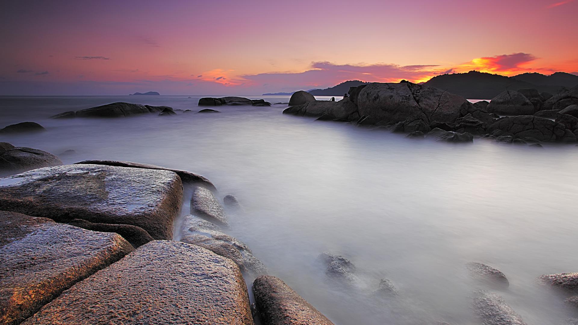 камни закат небо скалы  № 737072  скачать
