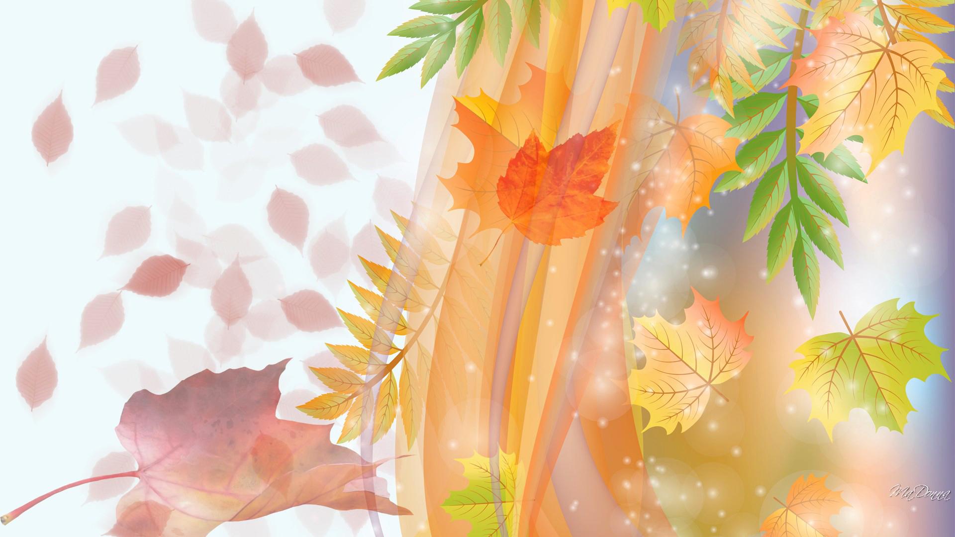 Открытки листья