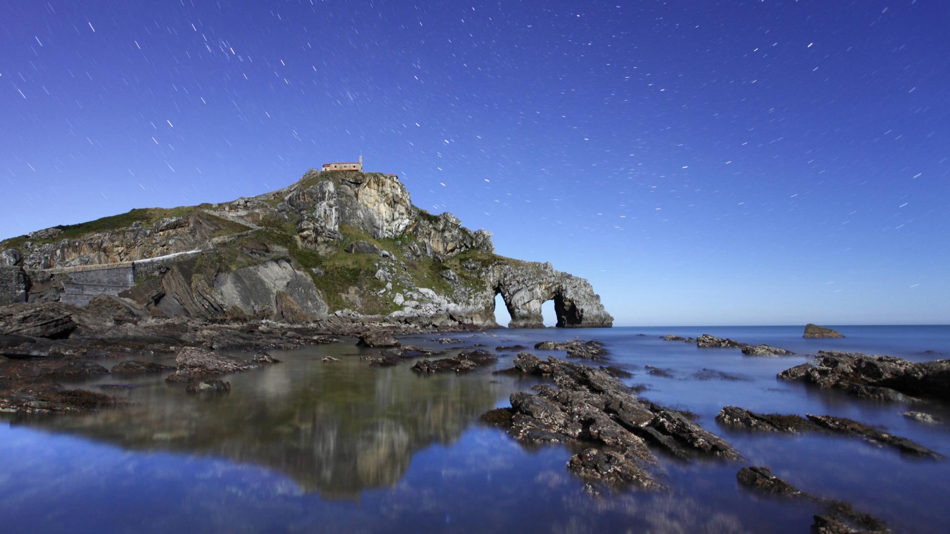 арка скалы море небо  № 2841927 бесплатно