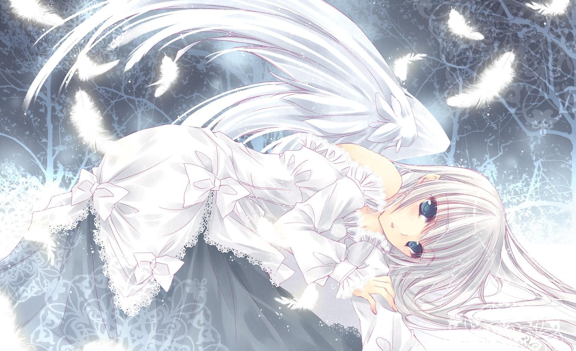 пять фото ангел с белыми волосами это