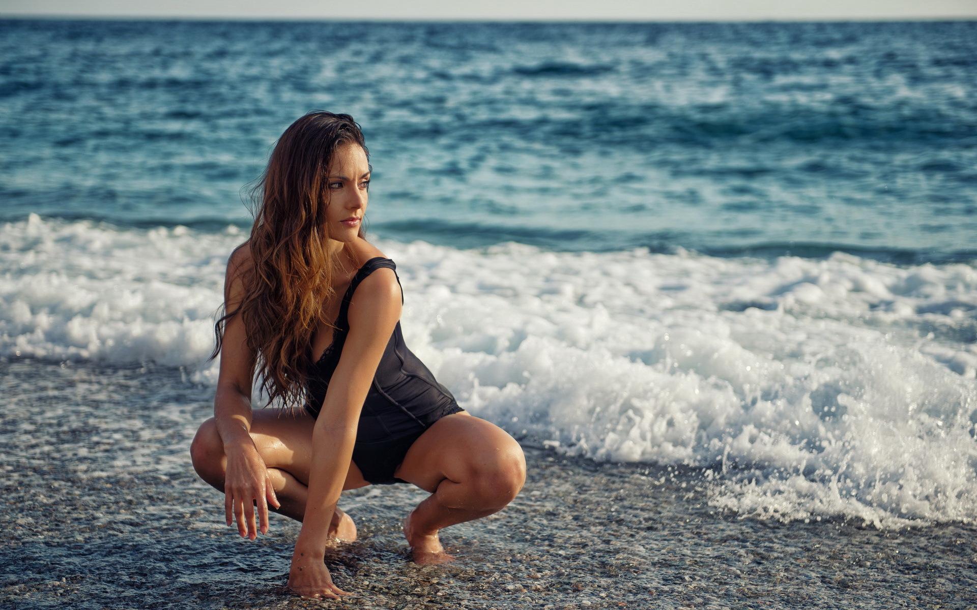 Обои Девушка Море