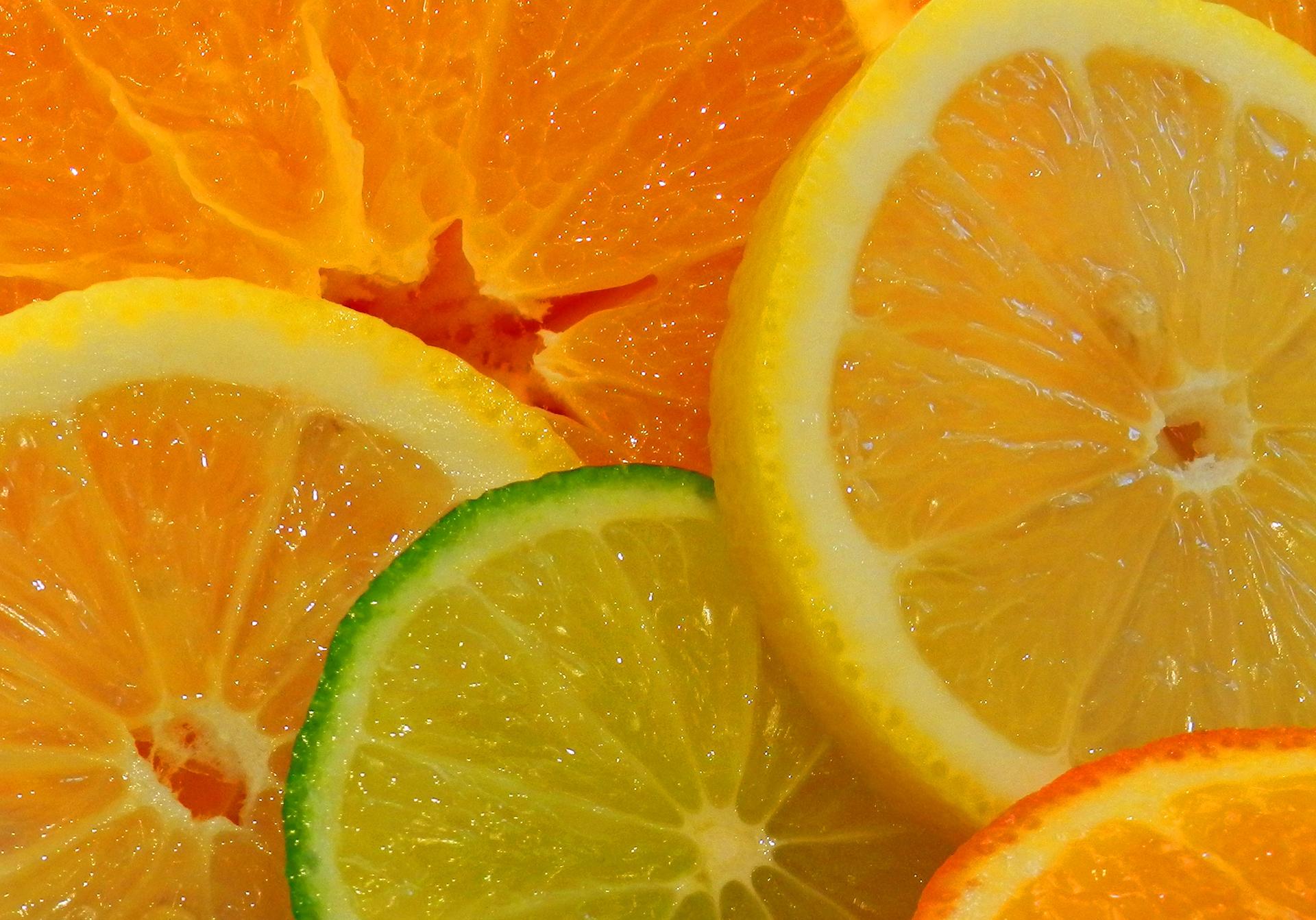 Обои для рабочего стола лимон лайм