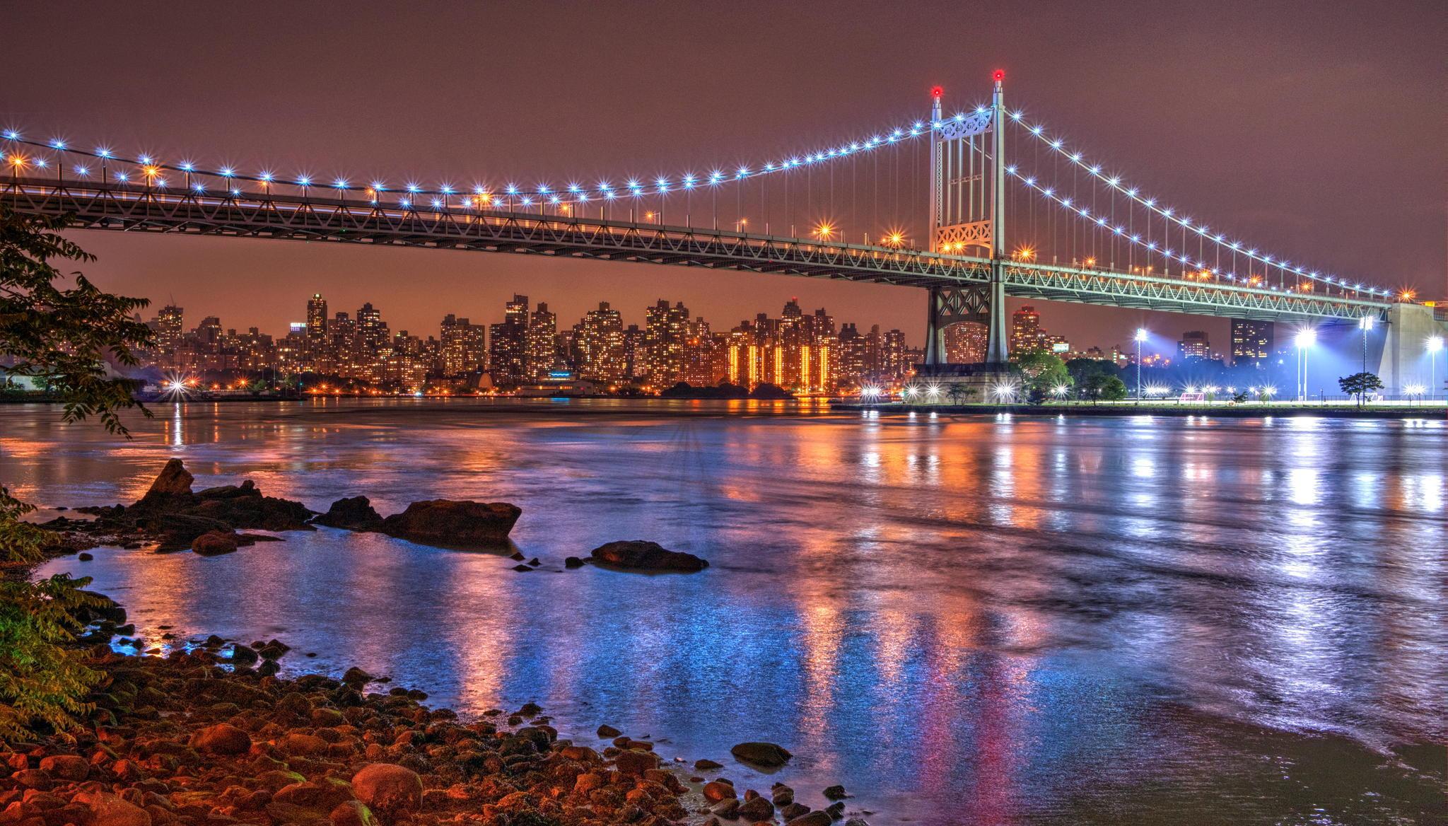 Мост огни ночь  № 3716557  скачать