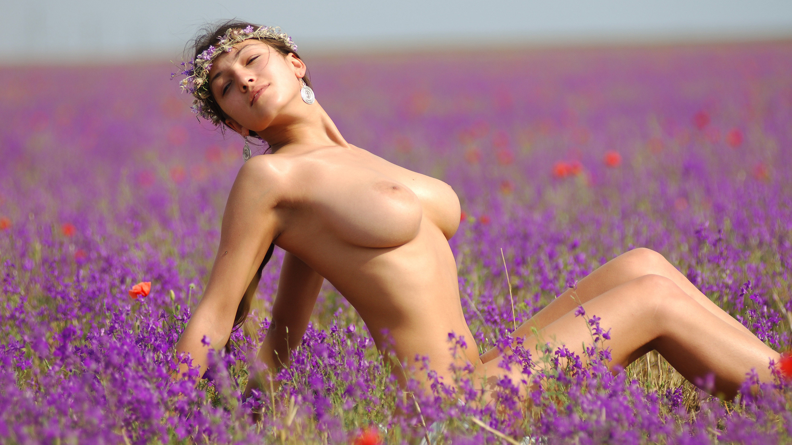 Nude women naked picking flowers shemale
