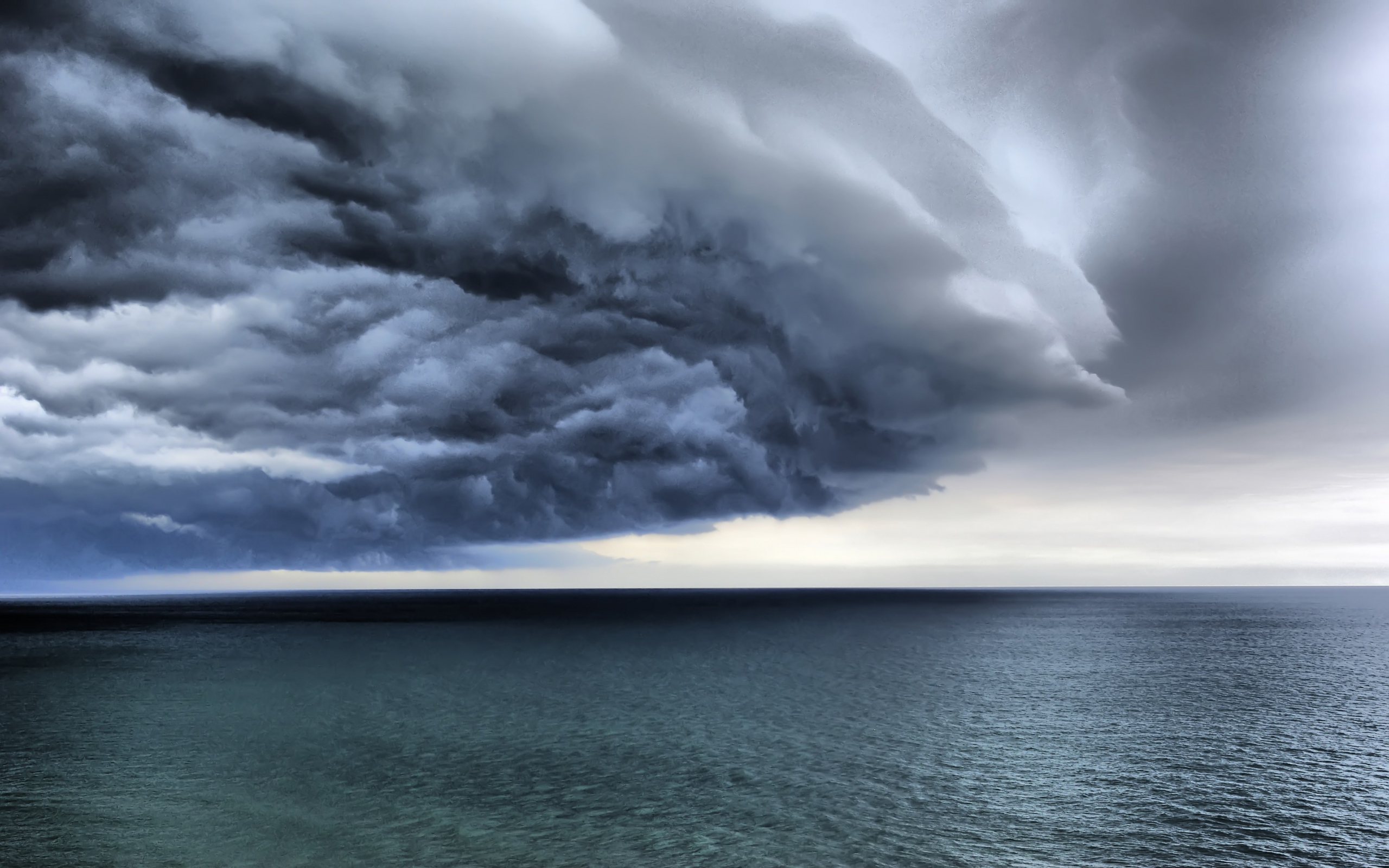 Обои картинки фото море океан облака