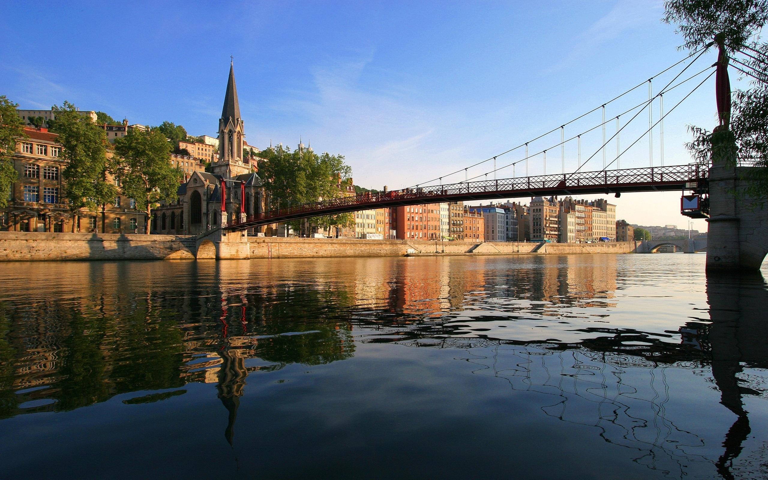 природа страны архитектура река мост Александр  № 2234696  скачать