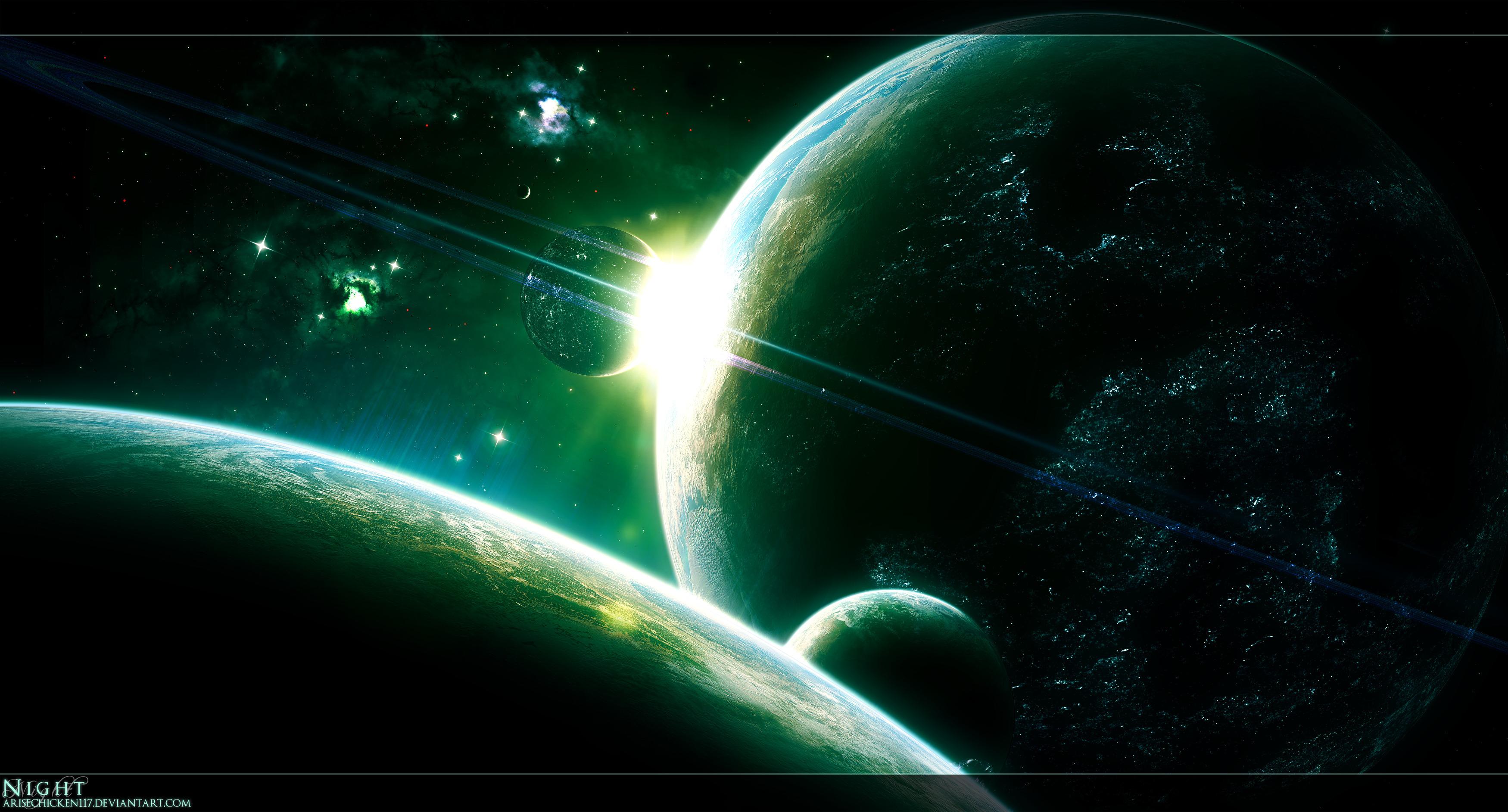 Обои Зелено-красный свет картинки на рабочий стол на тему Космос - скачать  № 1764119 бесплатно