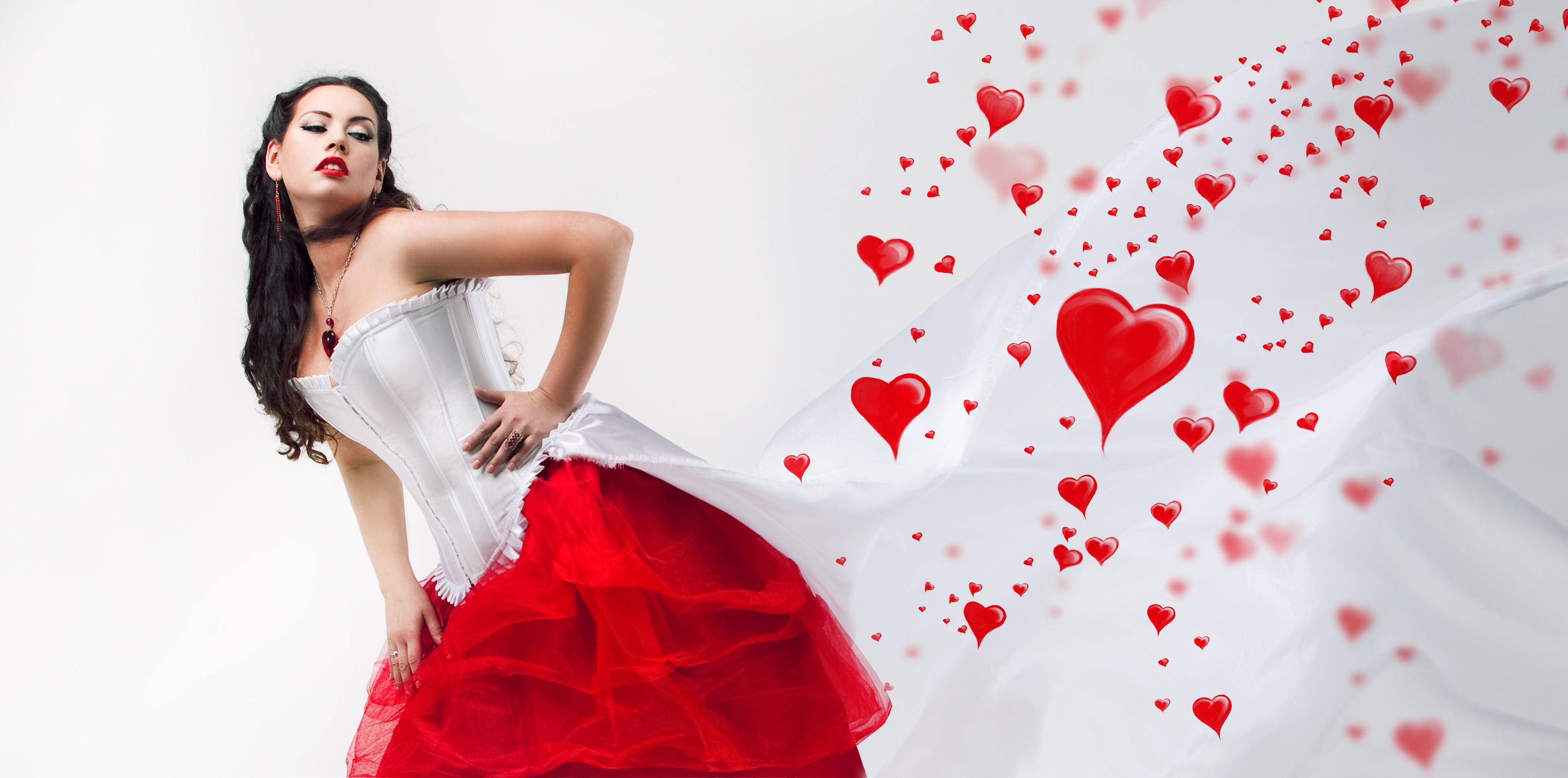 Сердце девушка обнимка  № 1659740  скачать