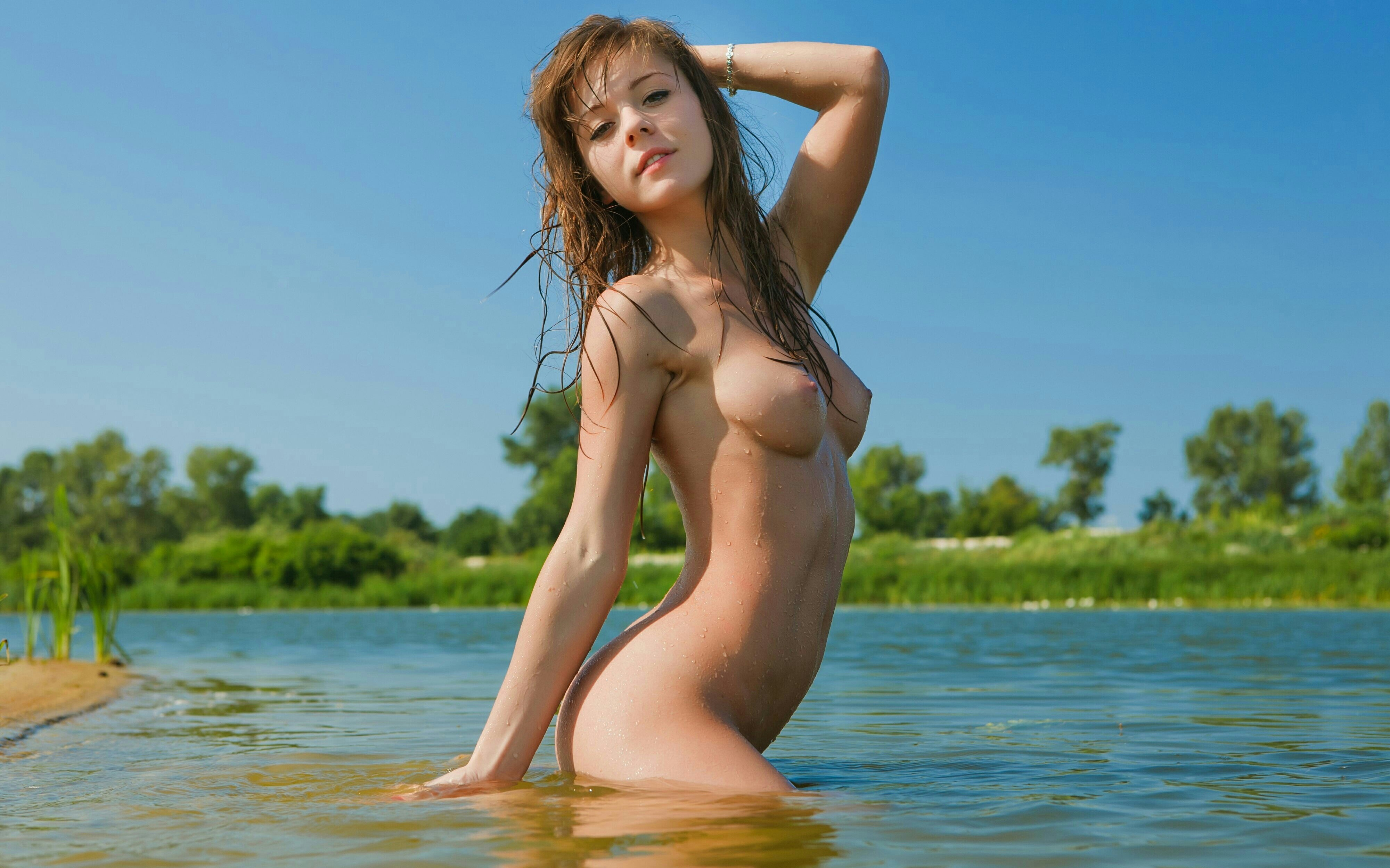 Naked models in a lake tranny hentai exhibition