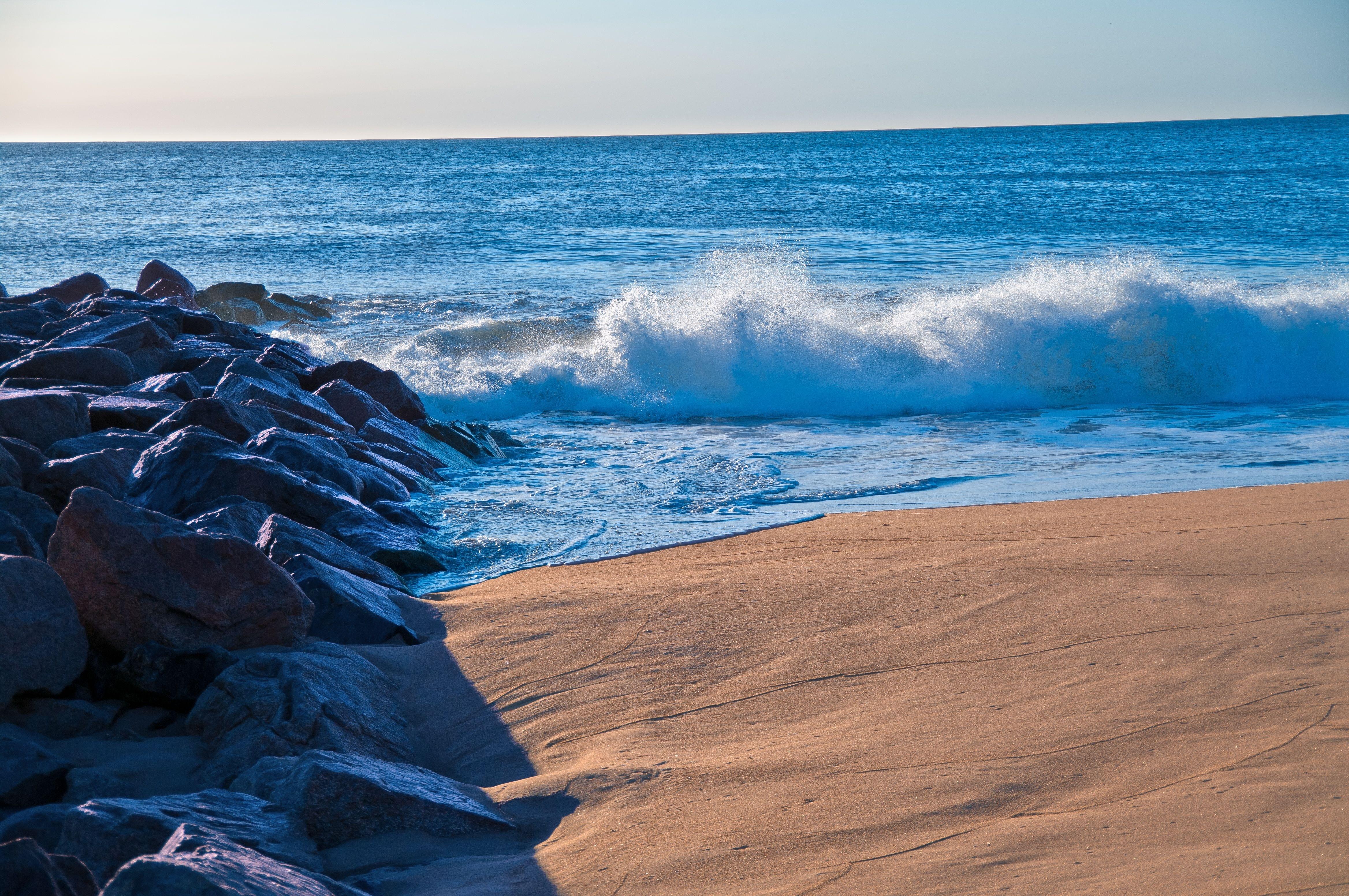 природа море берег горизонт волна  № 1011091  скачать