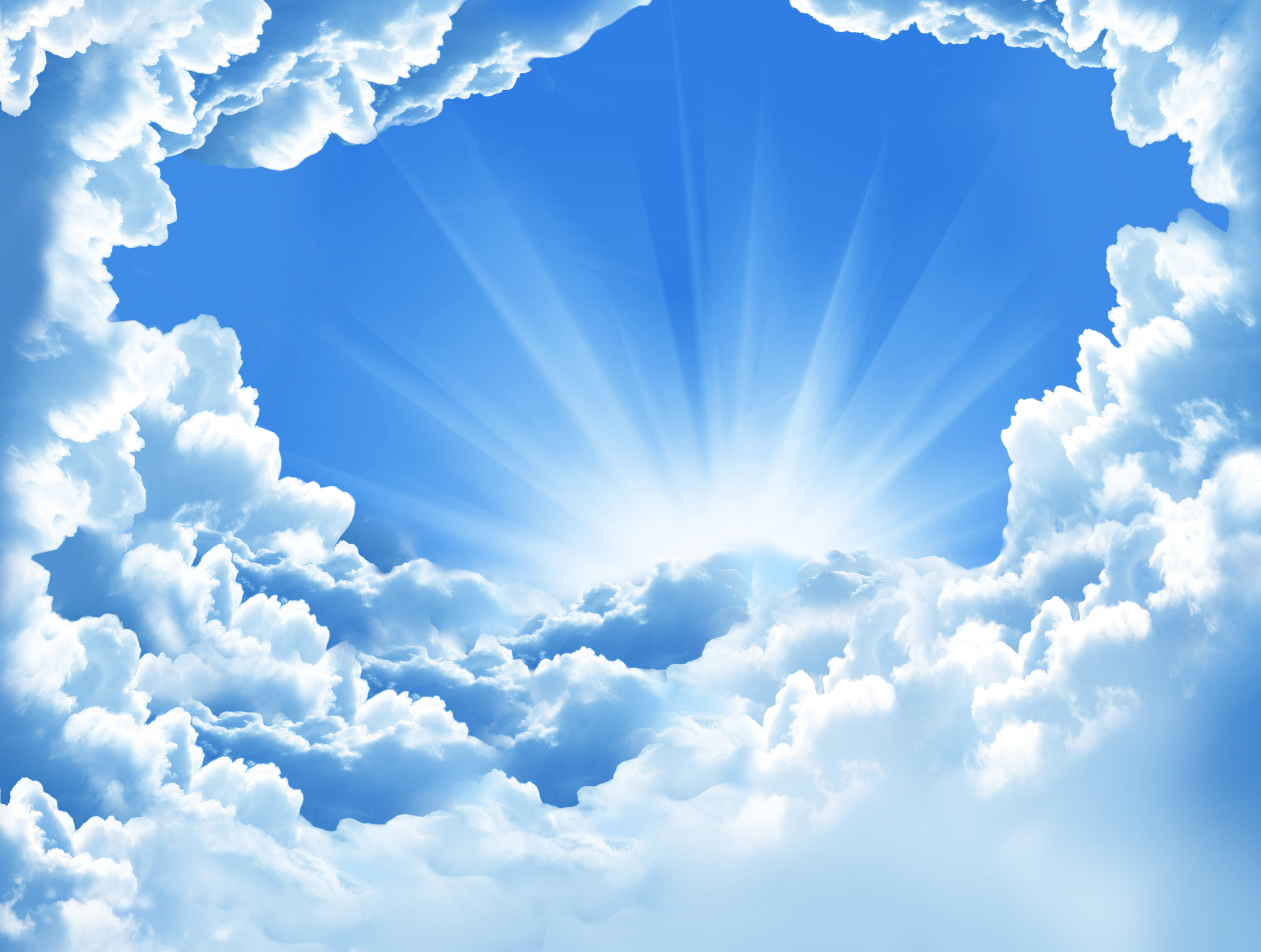 Стену надписями, фон для открытки голубое небо