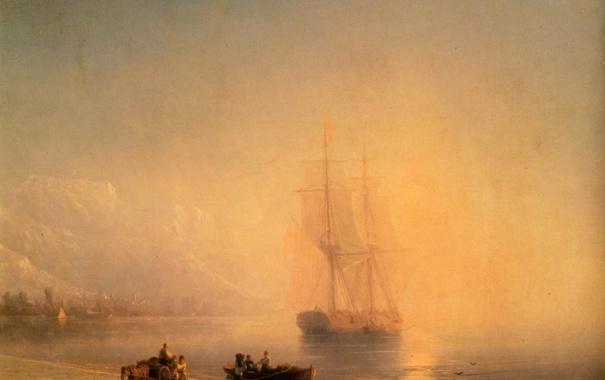 Фото обои картина, Айвазовский, Спокойное море