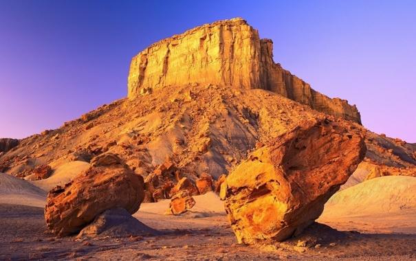 Фото обои desert, rocks, wind erosion
