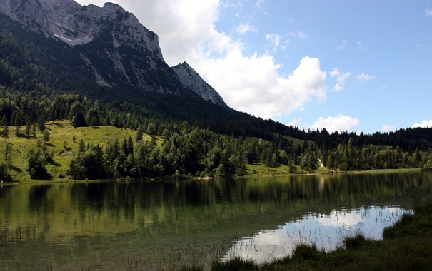 Фото обои вода, горы, природа, река, обои, пейзажи, леса