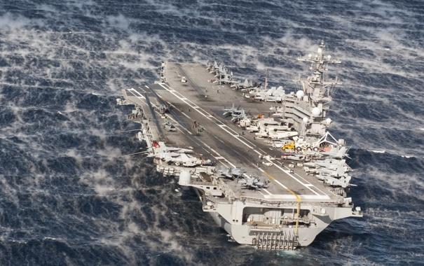 Фото обои оружие, корабль, USS George H.W. Bush