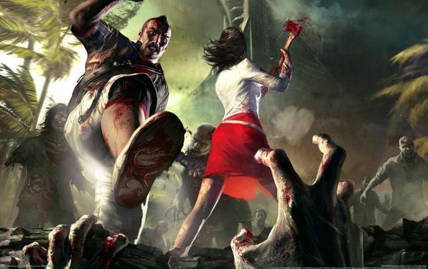 Фото обои зомби, нападение, Dead Island