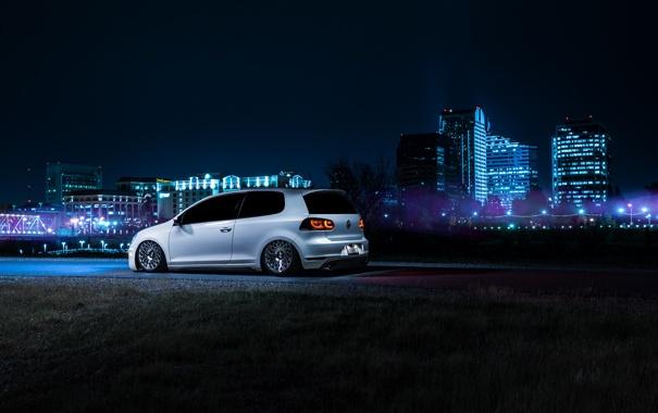 Фото обои Volkswagen, California, Downtown, GTI, MK6, Stance, Wheels
