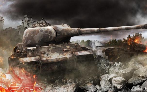 Фото обои Германия, танк, танки, Germany, WoT, Мир танков, tank