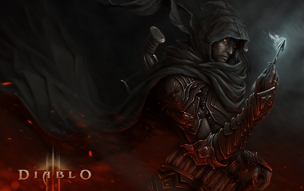 Фото обои доспехи, воин, стрела, Diablo, арбалет, Demon Hunter