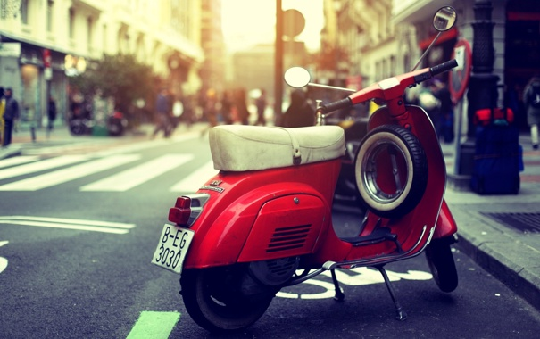 Фото обои солнце, красный, мотоцикл, red, sun