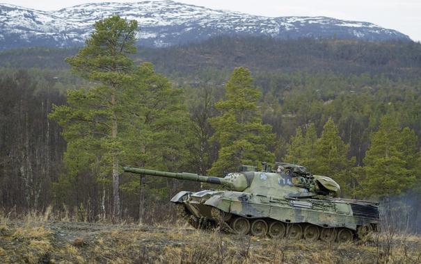 Фото обои природа, Норвегия, танк, бронетехника, Leopard 1