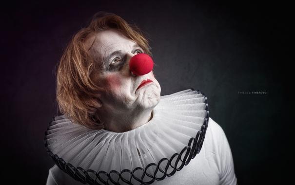 Фото обои клоун, взгляд, портрет
