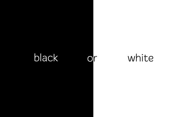 Фото обои white, black