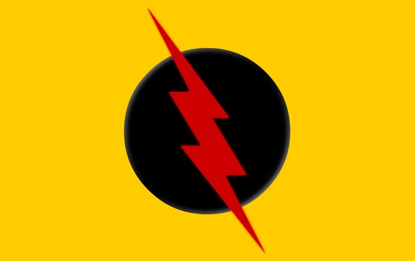 Фото обои logo, yellow, comics, Reverse Flash