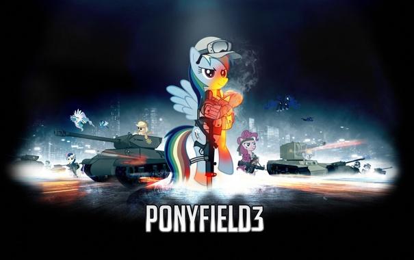 Фото обои battlefield, battlefield 3, PonyField, Pony, My little pony