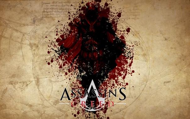 Фото обои игра, логотип, Assassins Creed
