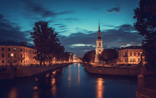 Фото обои канал, питер, спб, петербург, spb, peterburg, Никольский собор