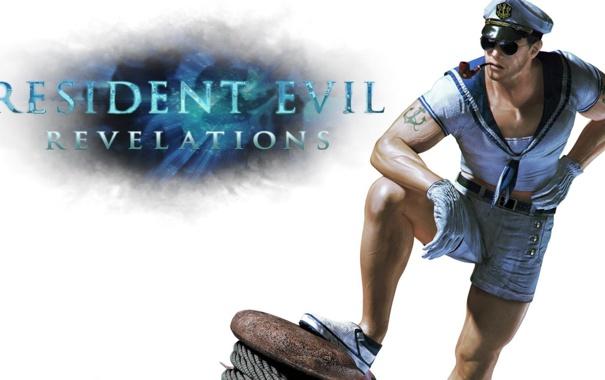 Фото обои тату, очки, Resident Evil, Resident Evil: Revelations, Chris Redfield, sailor, Biohazard: Revelations