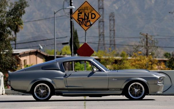 Фото обои фон, знак, Mustang, Ford, GT500, Форд, Мустанг