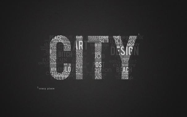 Фото обои city, город, обои, мысли, английский текст, сумасшедший город