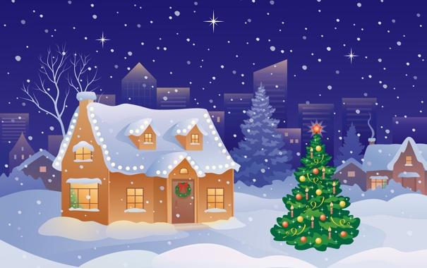 Фото обои зима, шарики, снег, украшения, праздник, Новый Год, Рождество