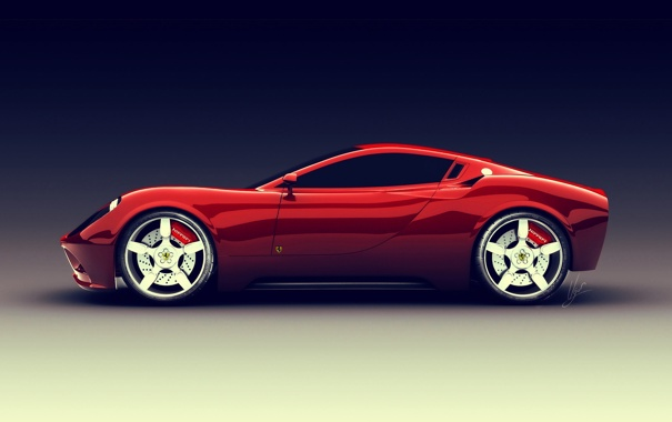 Фото обои car, red, ferrari, dino