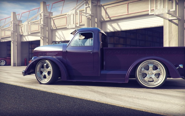 Фото обои tuning, retro, Pickup, ГАЗ 51