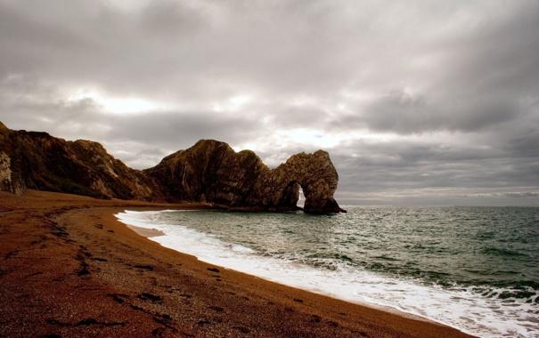 Фото обои песок, море, вода, камни, фото, океан, скалы