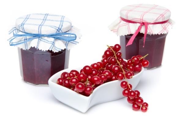 Фото обои варенье, jam, банки, смородина, banks, berries, ягоды
