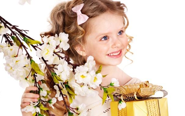 Фото обои Girl, блондинка, девочка, white, красивая, голубые глаза, box