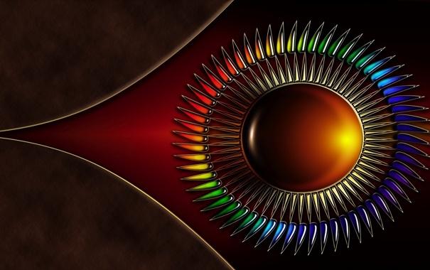 Фото обои цвета, круг, Абстракция