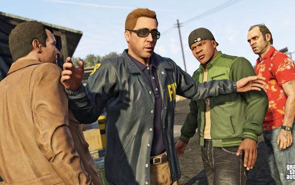 Фото обои майкл, франклин, Grand Theft Auto V, gta 5, тревор