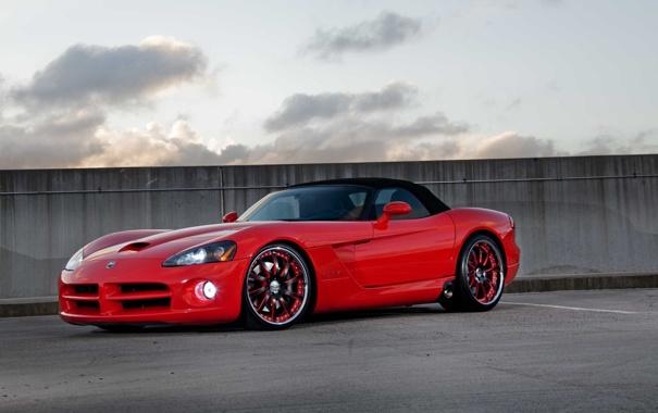 Фото обои Dodge, red, viper