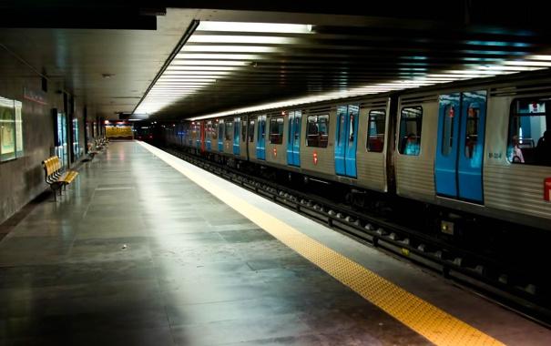 Фото обои метро, поезд, станция, Лиссабон