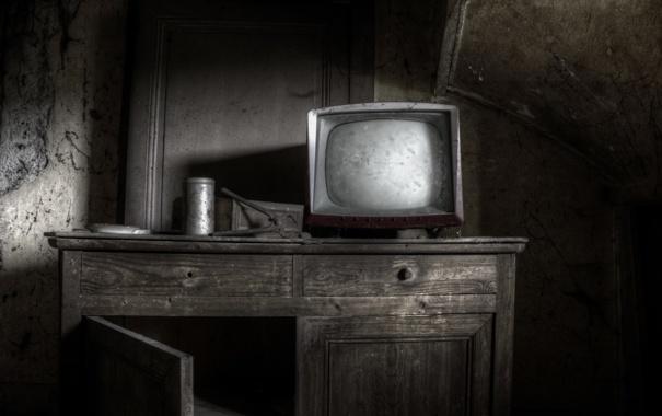 Фото обои фон, телевизор, шкаф